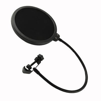 Microphone Windscreen Dual Layer Record Studio Mic Pop Filter Mask Shield