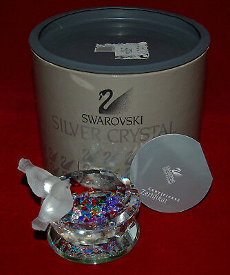SWAROVSKI Crystal  BIRD BATH Feathered Friends Theme BOX+COA+Heart Gems