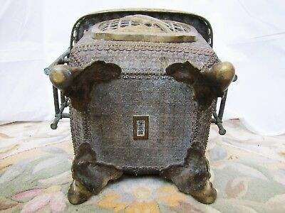 Antique Chinese Bronze Pot, Early 20th Century with Mark.
