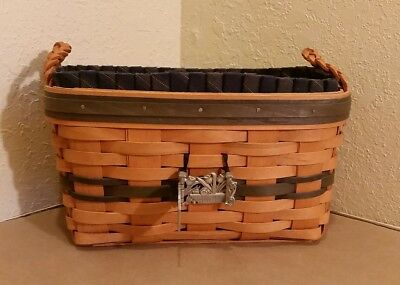 Longaberger 1997 Renewal Basket Collector's Club Liner Protector Tie On Pin Gate