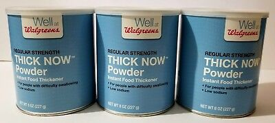 Walgreens Regular Strength Thick Now Powder Instant Food Thickener 8oz (3 Pack)