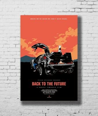 Hot Gift Poster Back To The Future De Lorean DMC 40x27 30x20 36x24 F-3353
