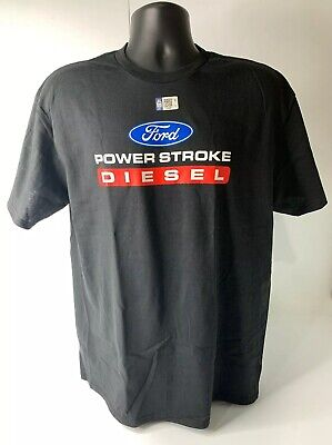 T-Shirt w/ Ford Power Stroke Diesel Logo / Emblem Black (Licensed, F250, F350)