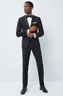 $895 Authentic HUGO BOSS Men's Virgin Wool Tuxedo Regular Fit Stars/Glamour Suit