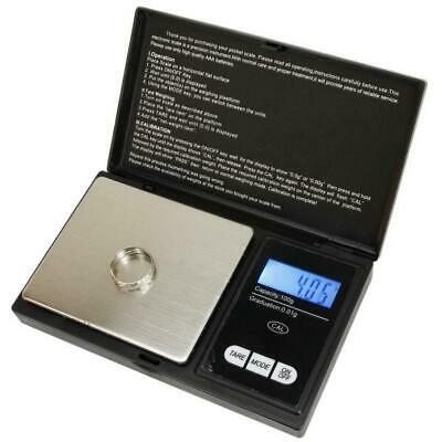 Digital Scale 100g x 0.01g Jewelry Gram Silver Gold Coin Herb Grain Pocket Scale