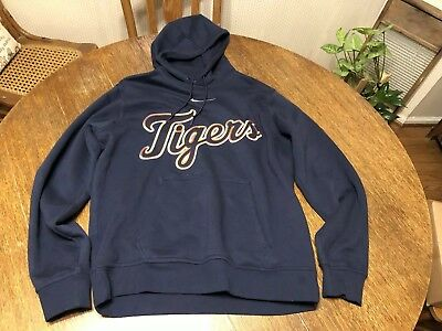 reputable site a14f8 988d5 DETROIT TIGERS HOODIE Nike MLB Size Large