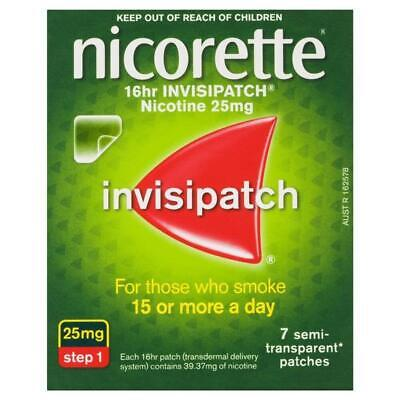 New Nicorette 16HR Invisipatch Step 1 25mg 14 Patches Quit Smoking Patch