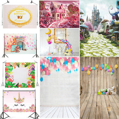 Kid Baby Birthday Photography Background Photo Wood Wall Party Backdrop Prop