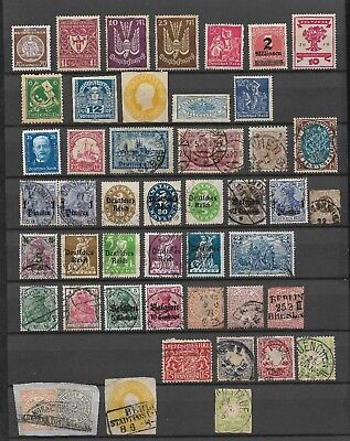 Collection Of Old Used And Unused German And German Colonies Stamps Bayern