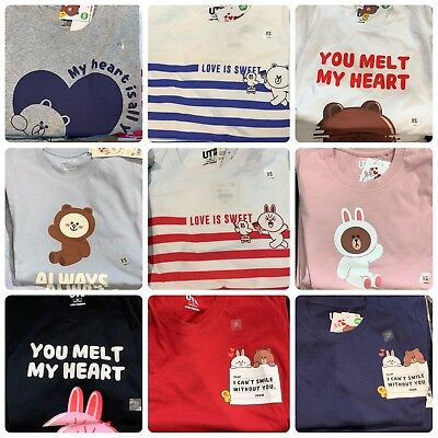 1f362868b Hong Kong Uniqlo Line Friends Brown Cony UT Couple T-shirt 2019 Men Women