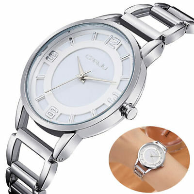 Fashion Geneva Ladies Women Girl Stainless Steel Analog Quartz Dial Wrist Watch