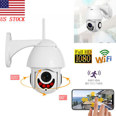 US Wireless 5X ZOOM Outdoor CCTV HD 1080P WIFI IP Camera Home Security IR Camera