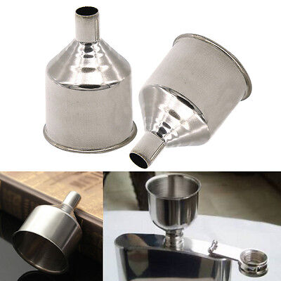 Stainless Steel Funnel For Most Hip Flasks Flask Wine Pot Wide Mouth