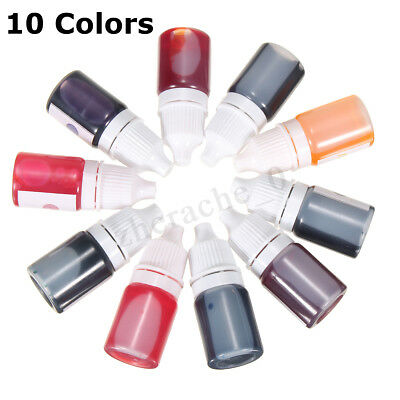 For DIY Bath Bomb Dyes Soap Making Coloring Liquid Kit Colorants AU 10 Colors