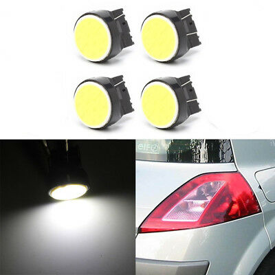 4 X T20 12smd Cob Led 7440 7443 W21W Car stop Backup Reverse lights White DC 12V