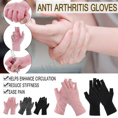 Cycling Anti Arthritis Gloves Hand Support Ease Pain Relief Finger Compression