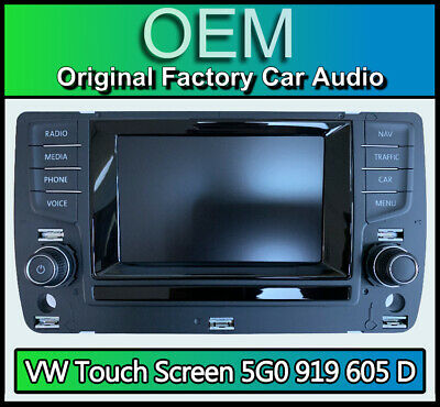 VW Golf MK7 Sat Nav display screen, 5G0919605D navigation touchscreen panel