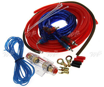 Car Audio Amp Wiring Kit Amplifier Sound System 8 Gauge Cable Wire Install