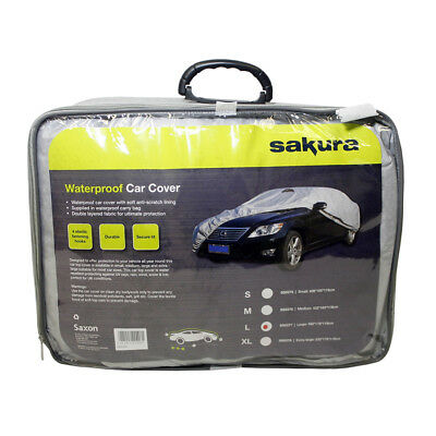 X-LARGE WATERPROOF CAR COVER -Breathable, Anti-Scratch, Double Stitch, Carry Bag