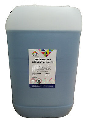 Azure Bug Remover Glass Trim Paintwork Bugs Tar Bird Lime Solvent Cleaner - 25L