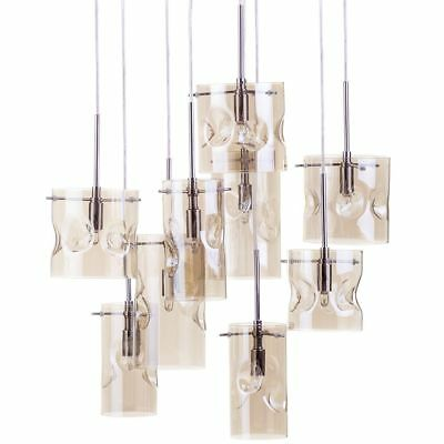 Champagne Tinted 9 Light Cluster Ceiling Pendant Contemporary Lighting Litecraft