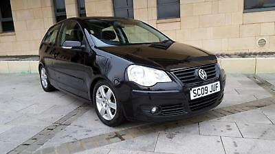 Volkswagen Polo 1.2 ( 60ps ) 2009MY Match. METALLIC BLACK. 67000 MILES, LOWERED