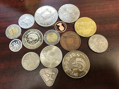 Assorted world foreign coins lot Most Excellent condition some proof high value