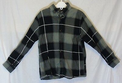 Boys Next Black Grey Check Smart Casual Long Sleeve Shirt Age 6 Years