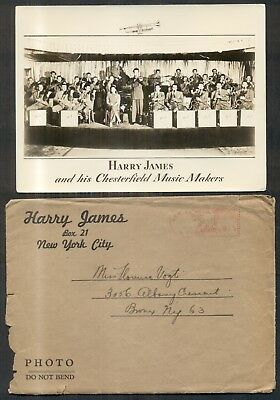 HARRY JAMES & CHESTERFIELD MUSIC MAKERS - AUTOGRAPH band member real photos