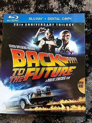Back to the Future: 25th Anniversary Trilogy Blu-ray 2010 6-Disc Set Slip Cover