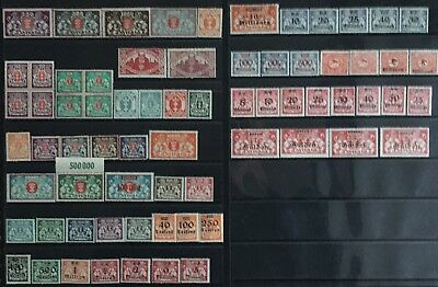 Germany: Free City of Danzig 1923 issues MNH/MLH & Used