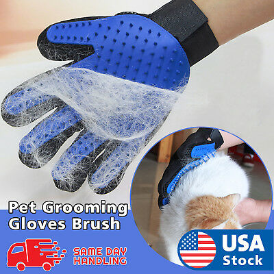Pet Grooming Gloves Hair Removal Brush Dog Cat Fur Massage Deshedding Mitts