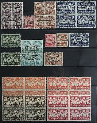 Germany: Free City of Danzig 1921-1923 Airmail issues MNH & Used