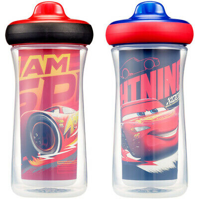 Disney Cars Insulated Hard Spout Sippy Cups 266mL - 2 Pack