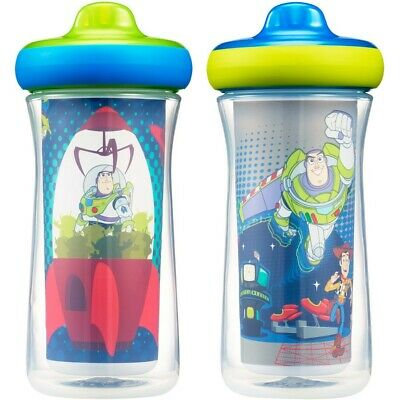 Disney Toy Story Insulated Hard Spout Sippy Cups 266mL - 2 Pack
