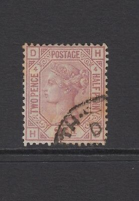"GB QV 2.1/2d Rosy Mauve SG141 Plate 4 ""HD"" Very Good Used 1876 Stamp"