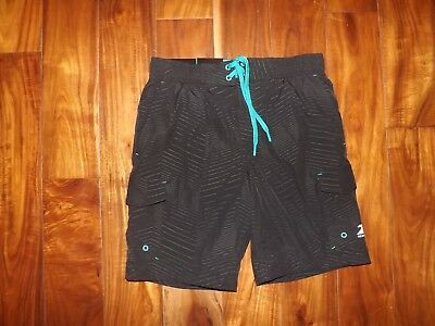 a203500fd8 NWT Mens ZeroXposur Black Chrome Stretch Swim Shorts Trunks Swimsuit UV S  Small
