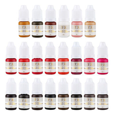 Tattoo Ink Pigment For Permanent Makeup Eyebrow Eyeliner Lip Body Microblanding