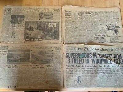 Antique San Francisco Chronicle 1927 Lot Of 4