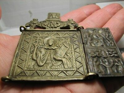 Russian Orthodox  Bronze Folded  Icon  # 931