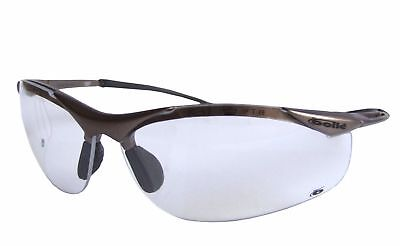 BOLLE CONTOUR CLEAR CONTPSI SAFETY GLASSES with FREE storage pouch