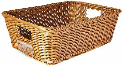School Smart 1435091 Synthetic Wicker Basket - Large - 6 1/5 x 13 1/4 x 18 1/4