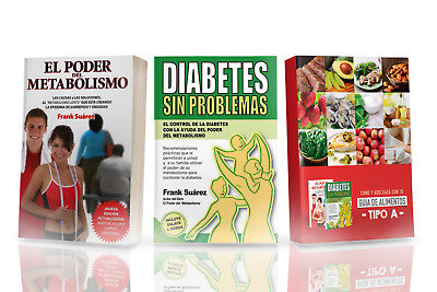 EBOOK DIABETES SIN PROBLEMAS+EL PODER DEL METABOLISMO FRANK SUAREs - PDF DIGITAL