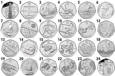 Rare & Valuable UK 50p Pence Coins Circulated Multiple Free Shipping
