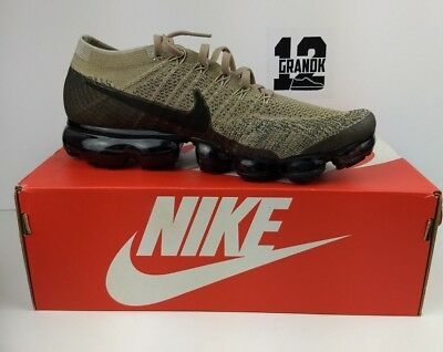 New Mens Sz 11 Nike Air Vapormax Flyknit (849558 201) Khaki/black-Anthracite