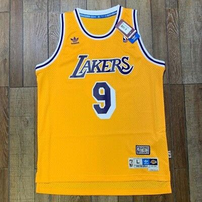8bf2aaa54 Authentic Nick Van Exel Vintage Los Angeles Lakers NBA Swingman Jersey LA  Adidas