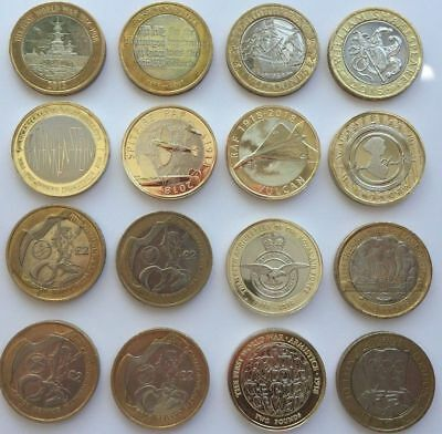 Various Rare £2 Two Pound Coins For The Royal Mint Album & Collectors Circulated