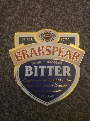 Brakspear Oxford Gold Beer Pump Clip Breweriana Brand New Free Fast P+P