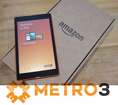 Amazon Kindle Fire HD8 6TH GEN Tablet Wi-Fi eReader  ALEXA 16GB AS NEW Tangerine
