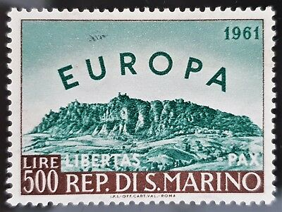 San Marino 1961 Sc # 490 Brown Blue Europa Issue 500l Mint MNH Stamp